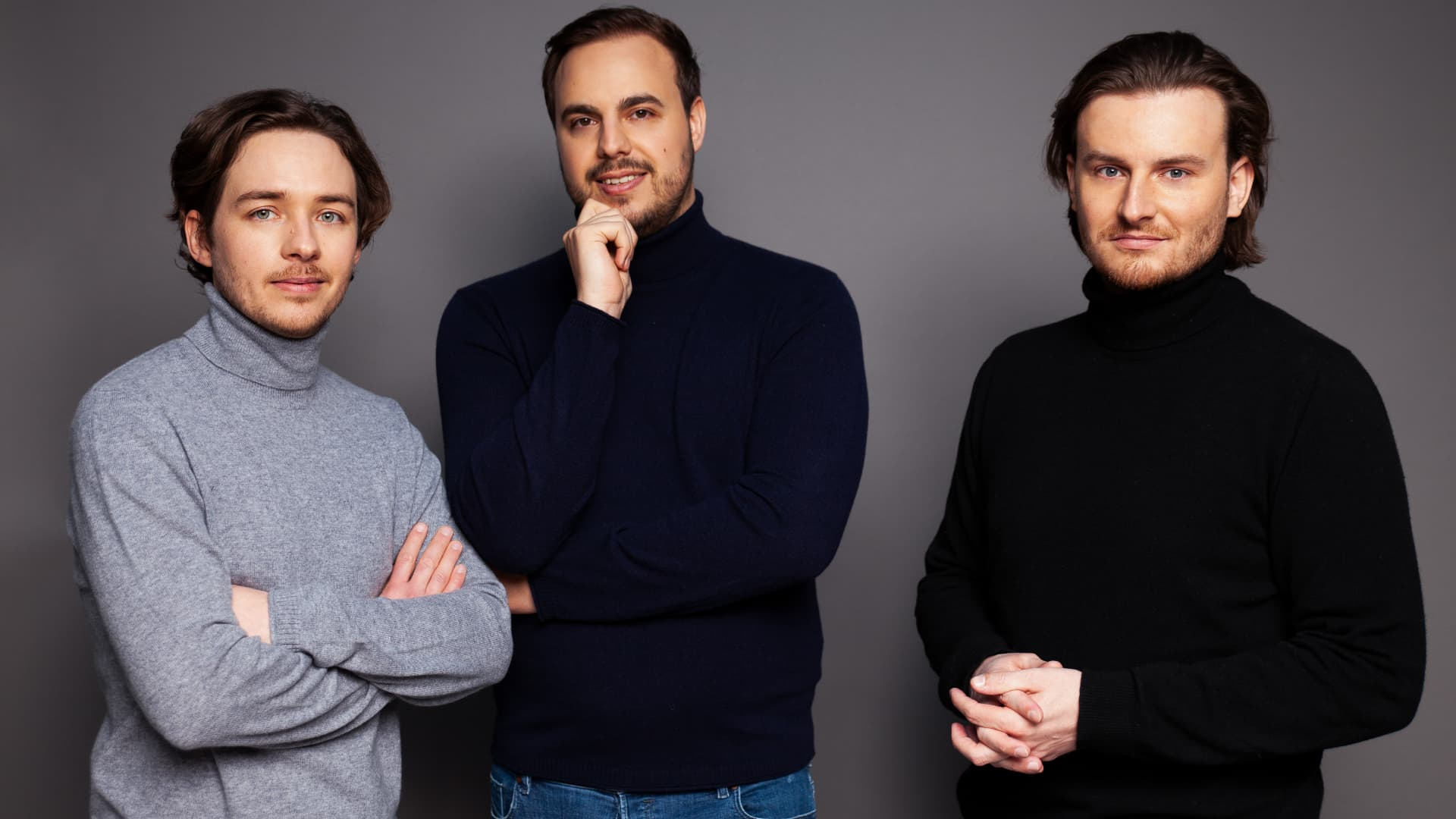 From left to right, Bitpanda co-founders Christian Trummer, Paul Klanschek and Eric Demuth.