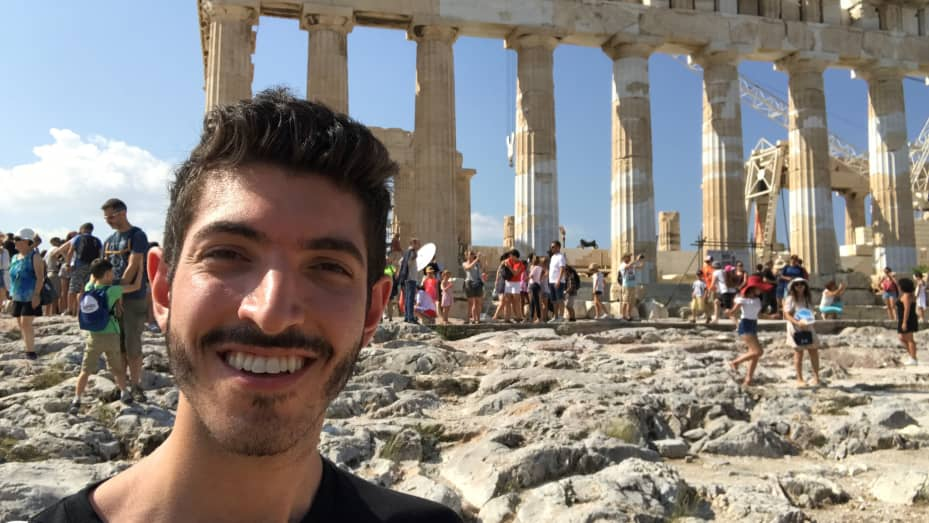 Rocky Trifari Greece digital nomad