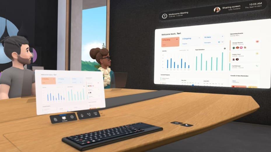 Facebook Workrooms VR