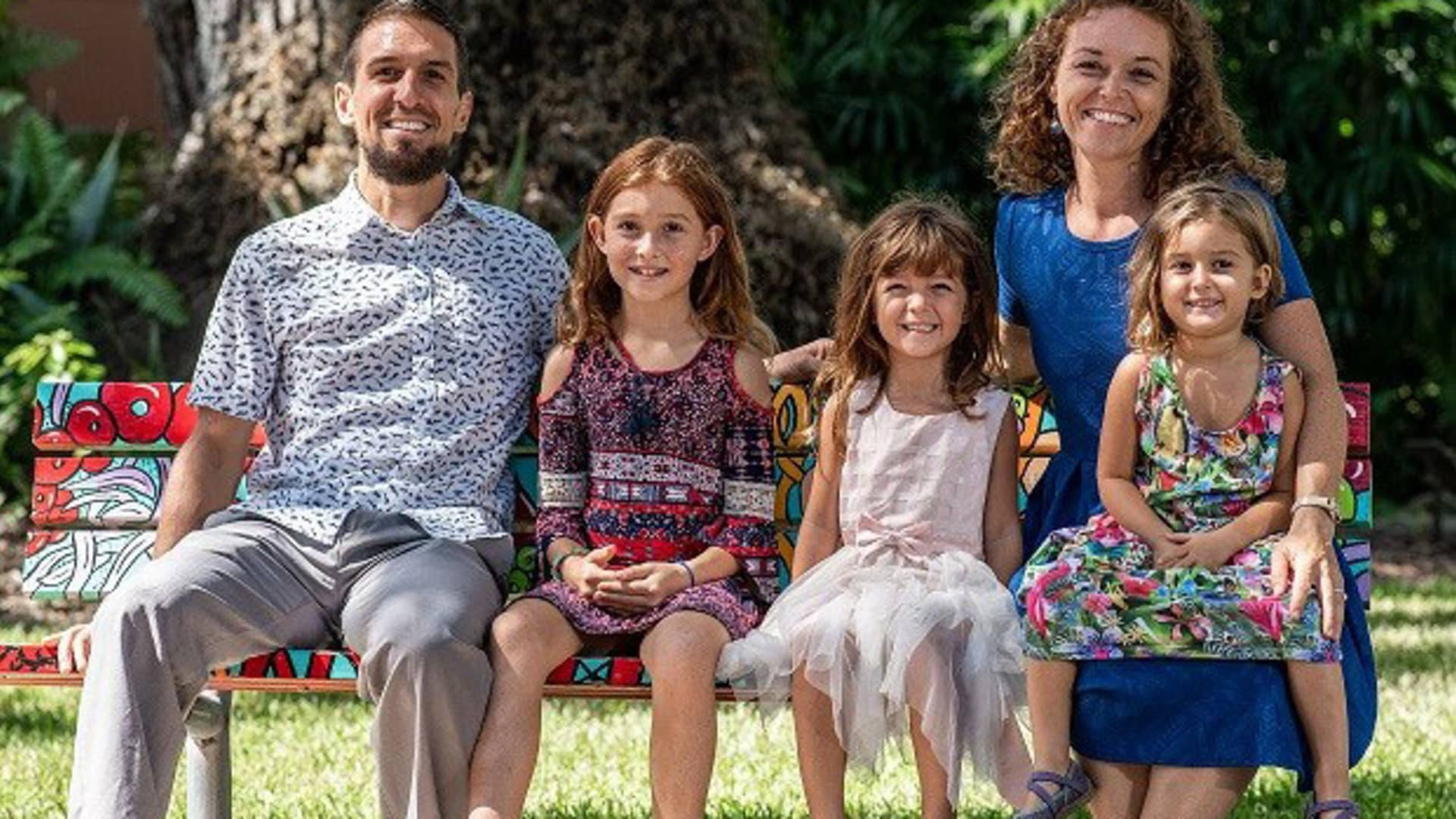 Tanja and Jared Vidovic with their daughters.