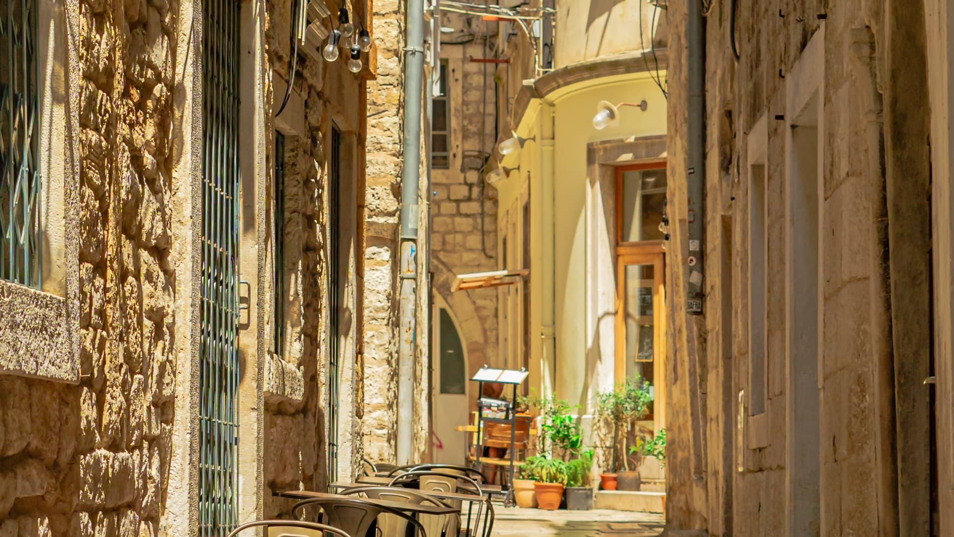 A beautiful street in the heart of downtown Split