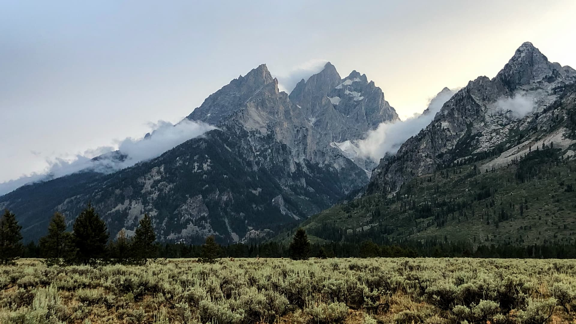 The Cathedral Group in Grand Teton National Park, Wyoming.