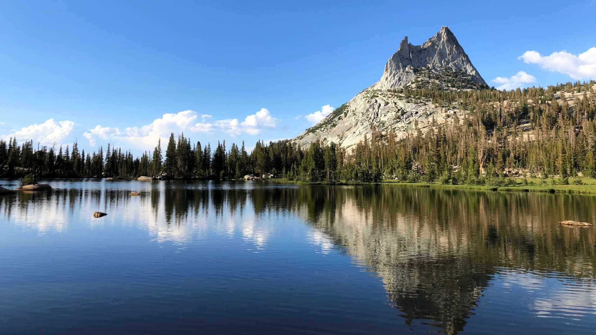 Upper Cathedral Lake in Yosemite National Park.