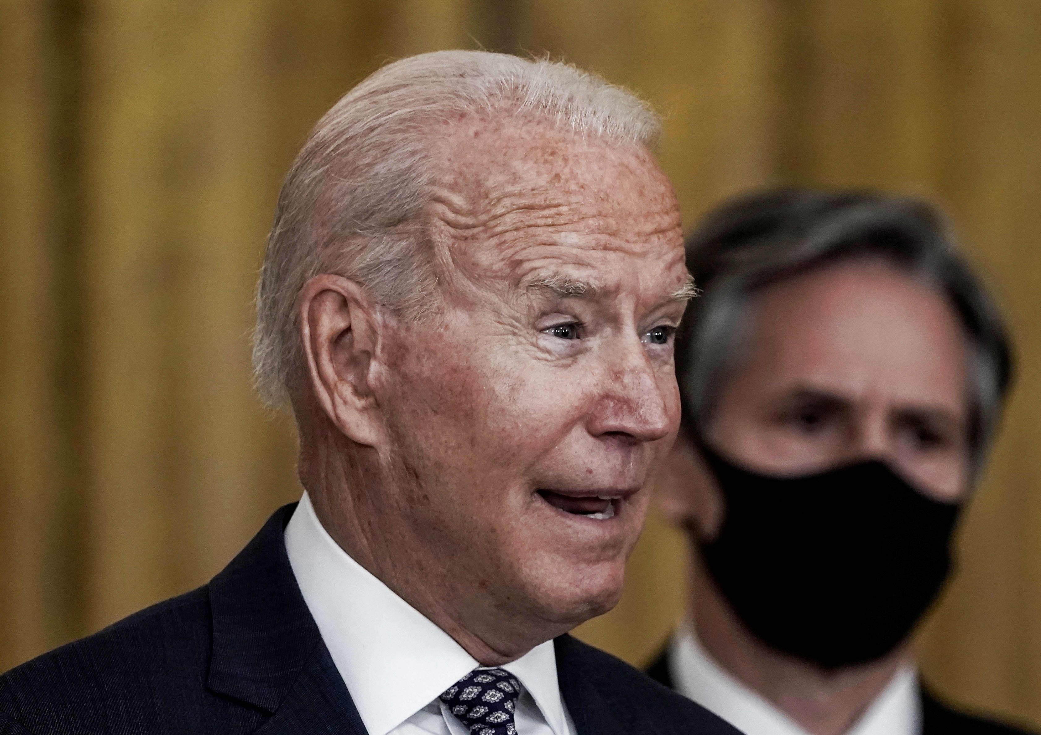 President Joe Biden's job approval ratings drop as crisis in Afghanistan  mounts