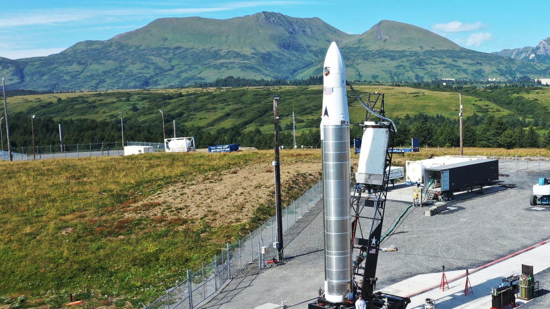 LV0006 on the launchpad in Kodiak, Alaska.