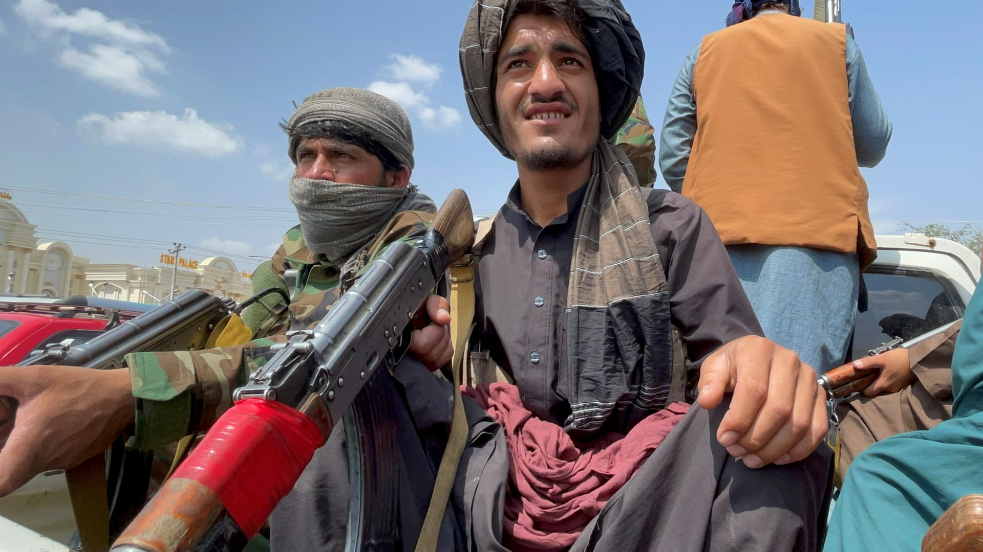 Taliban forces patrol near the entrance gate of Hamid Karzai International Airport, a day after U.S troops withdrawal, in Kabul, Afghanistan August 31, 2021.