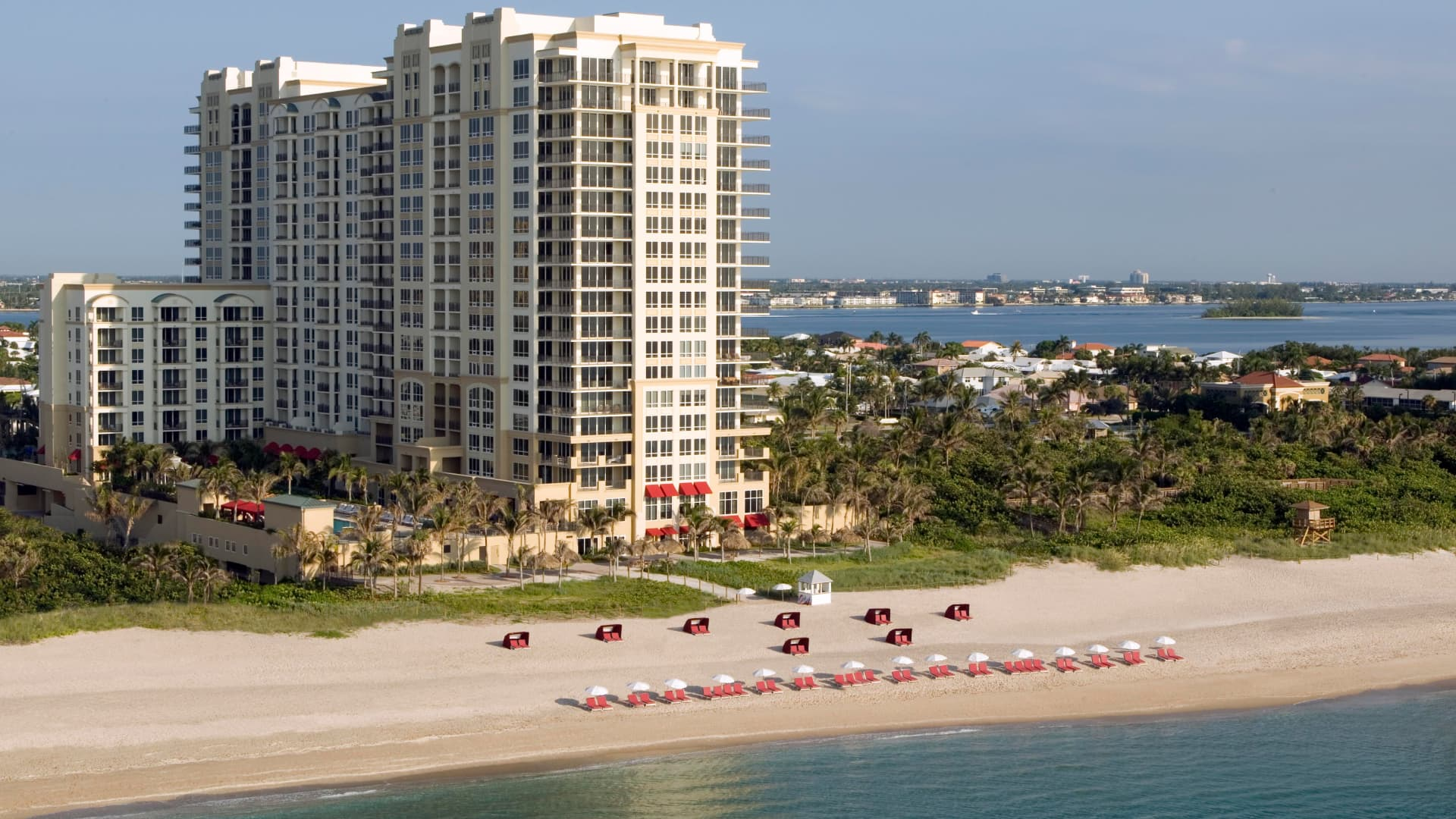 Florida's Palm Beach Marriott Singer Island Beach Resort & Spa is nearly fully booked for the Christmas holidays, according to the hotel.