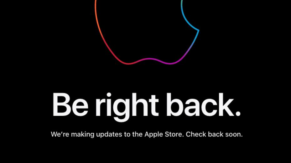 Apple store down screenshot Sept 2021