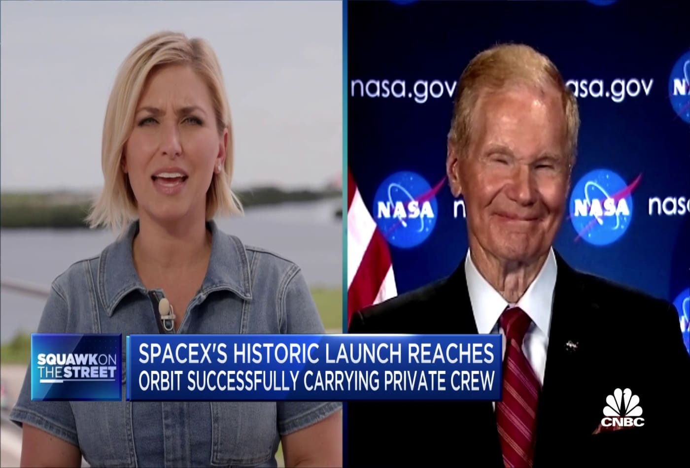 Nasa chief Bill Nelson reacts to historic all-civilian spaceflight from SpaceX