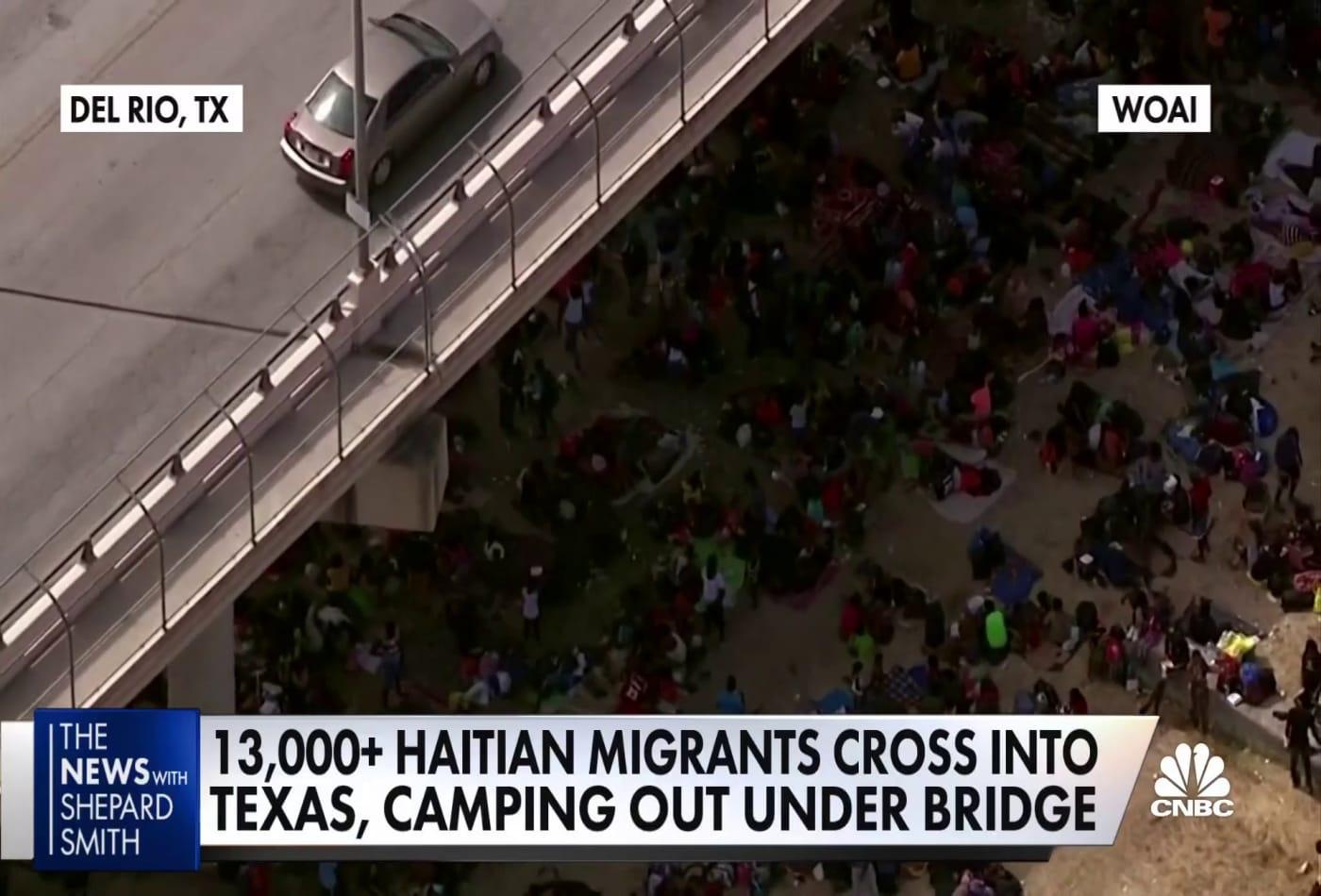 13,000 Haitian migrants cross into Texas