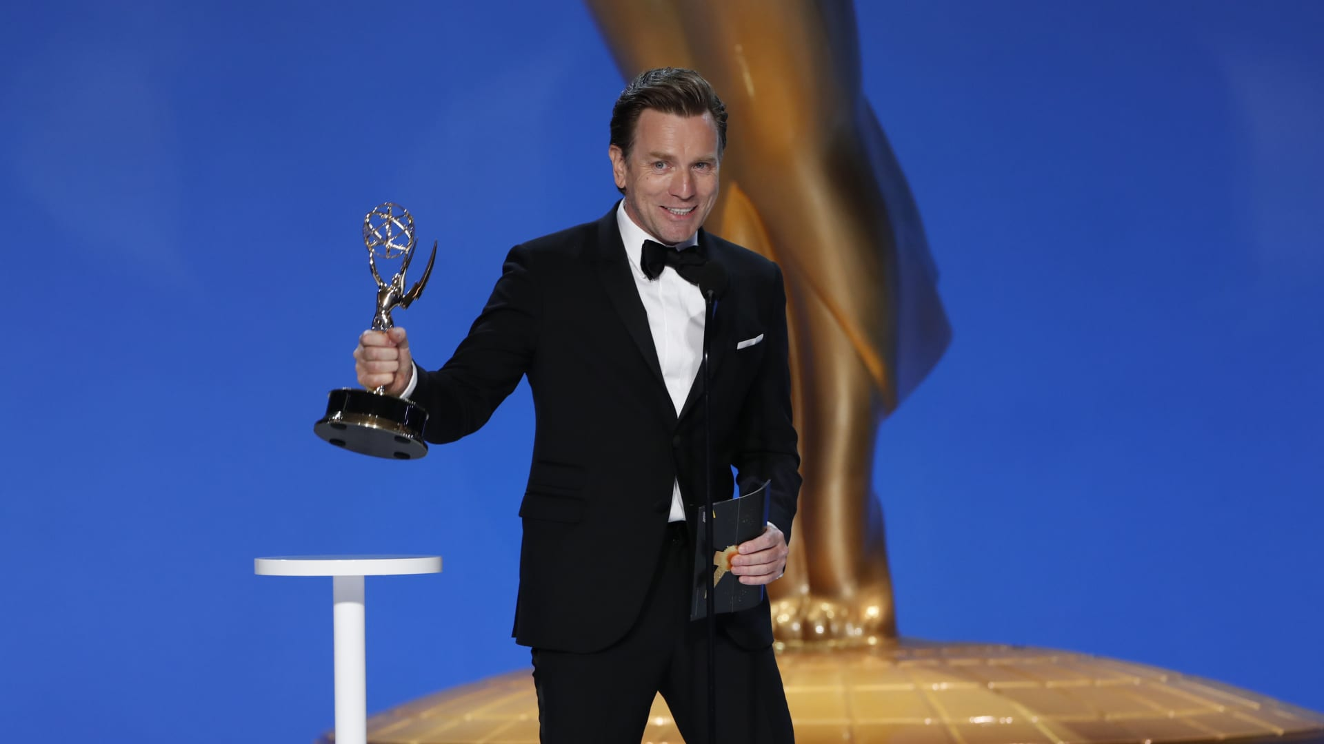 Ewan McGregor from 'Halston' appears at the 73RD EMMY AWARDS, broadcast Sunday, Sept. 19.