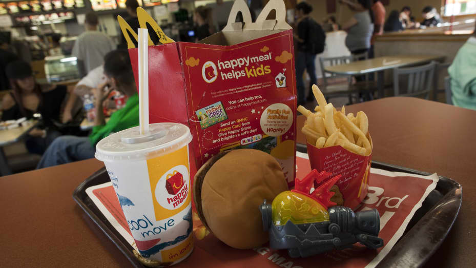 A photo illustration of a Happy Meal at McDonald's on November 3, 2010 in San Francisco, California.