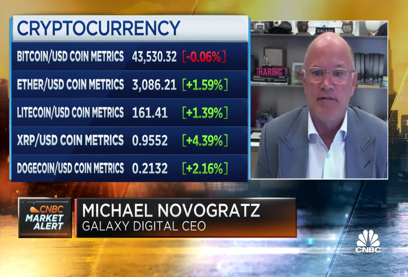 Galaxy Digital CEO: Not nervous about crypto sell-off, buy the dip