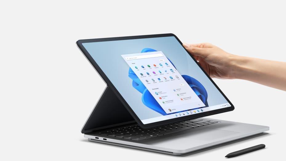 Microsoft's Surface Laptop Studio has a display you can tilt easily.