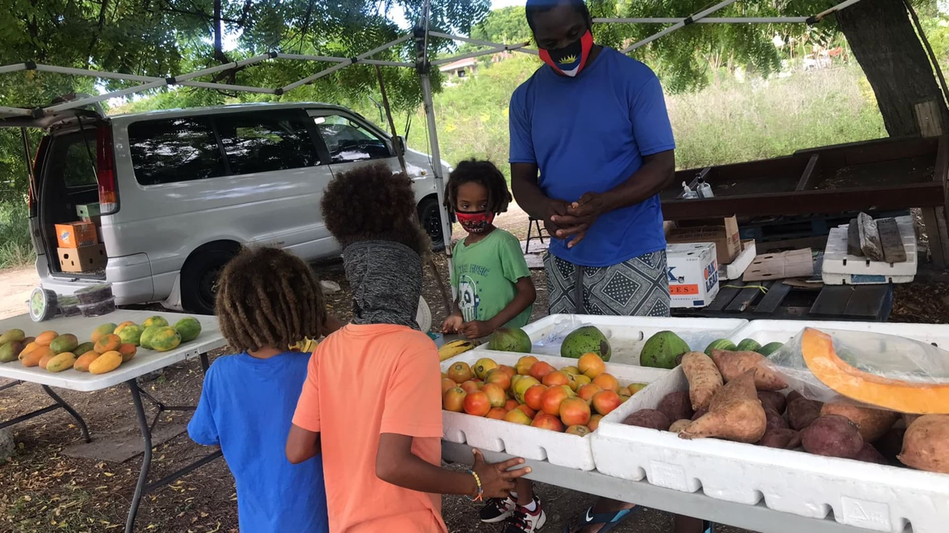 Mr. Mervin Lake keeps our family stocked with fresh fruit and vegetables.