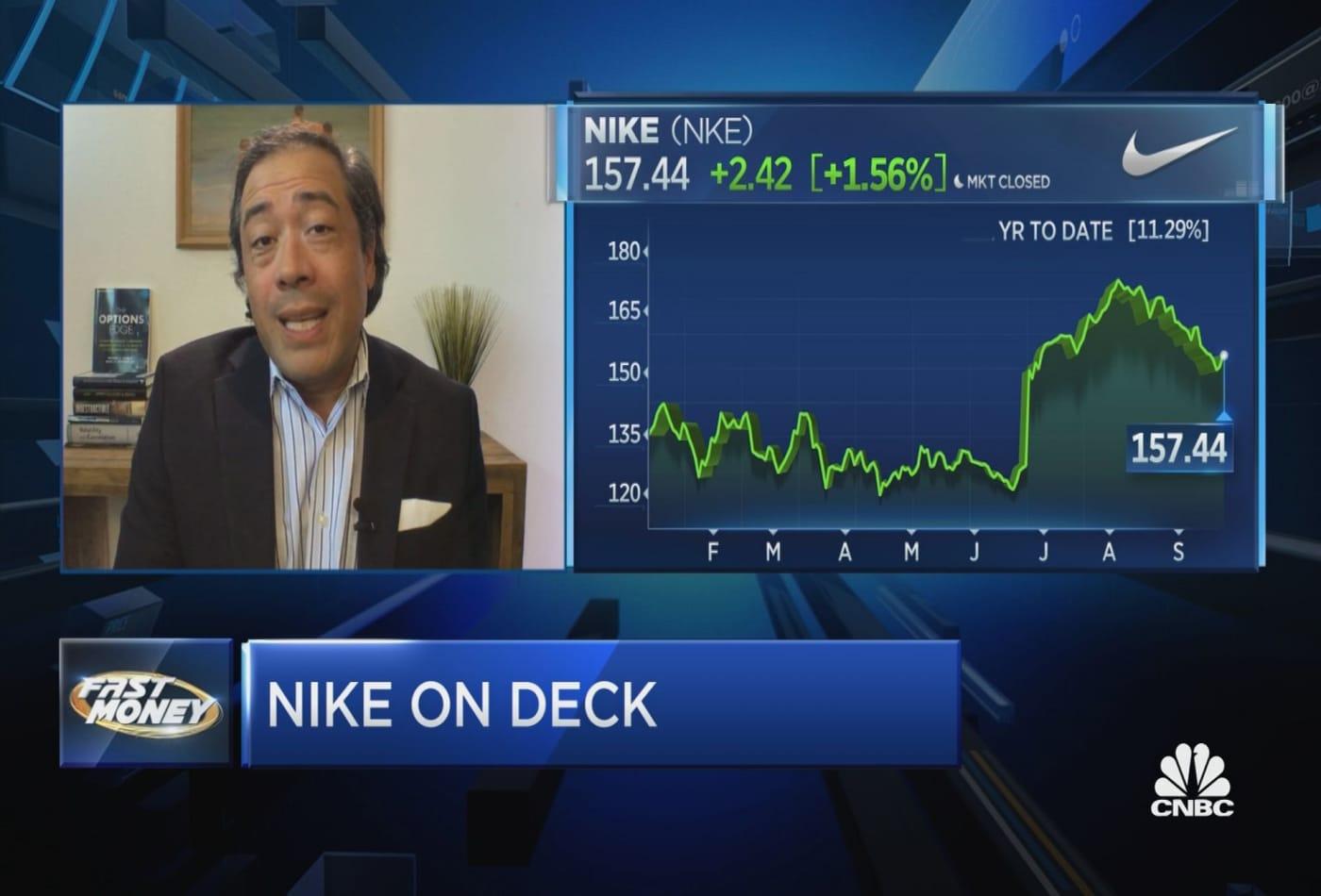 Options Action: Buy Nike into earnings?
