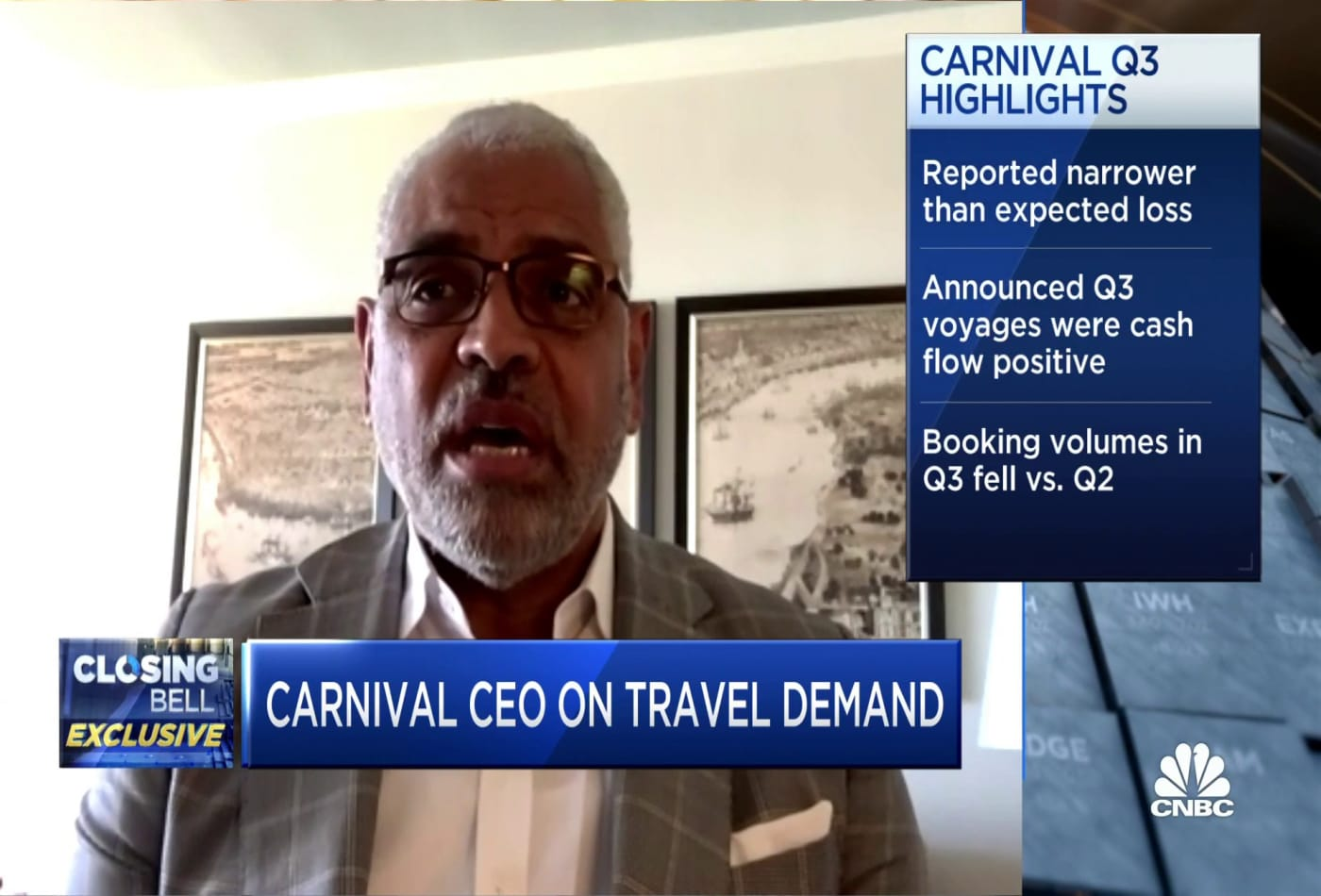 Carnival CEO expects to have full cruise fleet out by next summer
