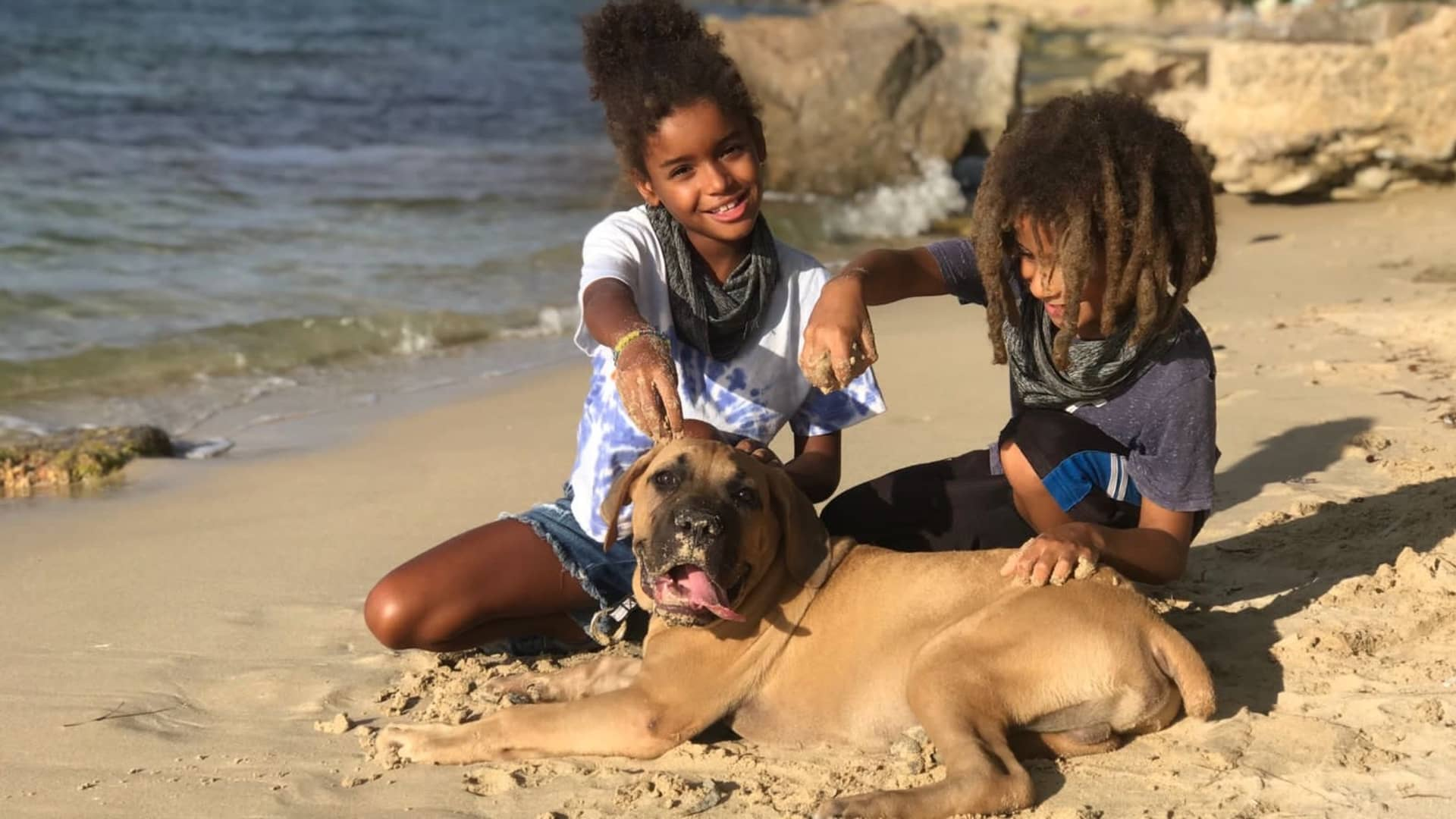 Our pandemic puppy, James Brown, loves the beach!