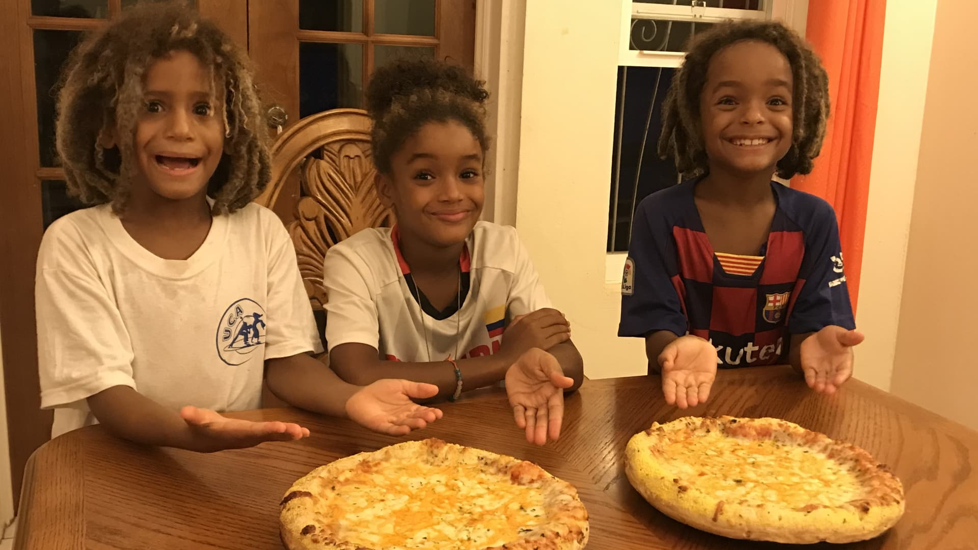 Pizza on Friday nights is one tradition we've kept alive since leaving the U.S.