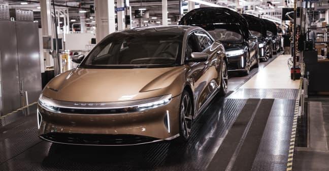 EV start-up Lucid begins production of flagship Air sedan ahead of customer deliveries