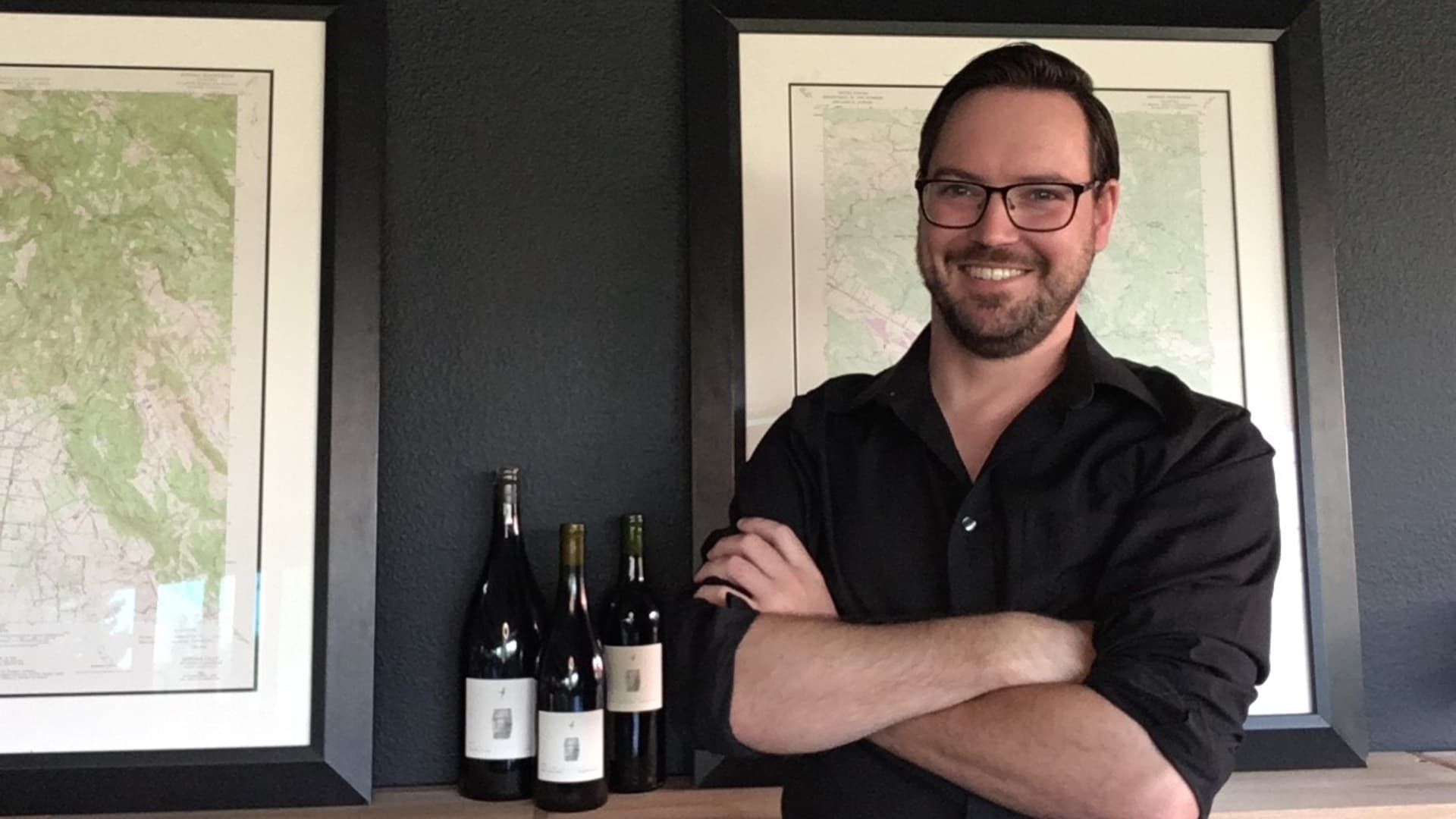 Ian O'Reilly moved to Napa Valley without a job; he now holds two positions in the wine industry.