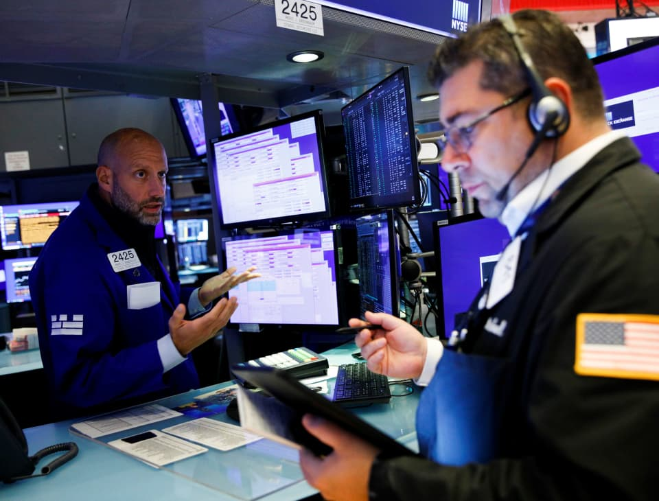 S&P 500 hovers near record, Nasdaq drops as social media stocks decline