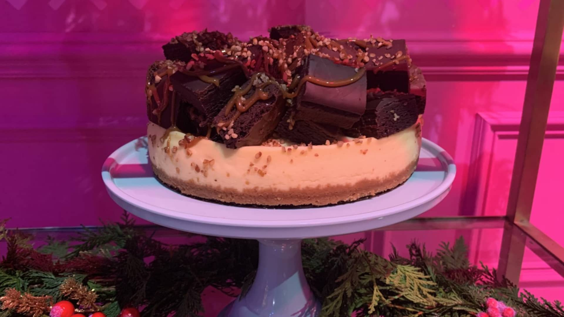 Sam's Club developed holiday desserts that are meant to be crowd-pleasers, including a brownie-topped cheesecake and pumpkin spice cakeballs.