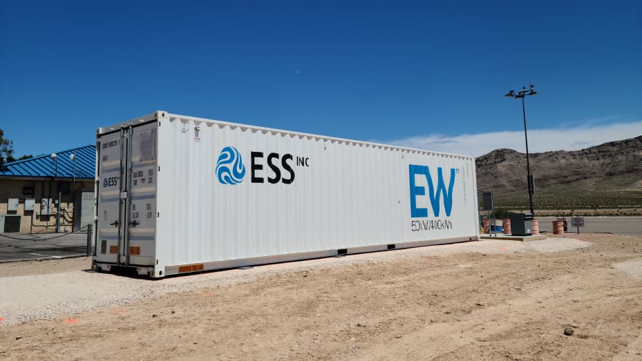 An ESS Inc battery