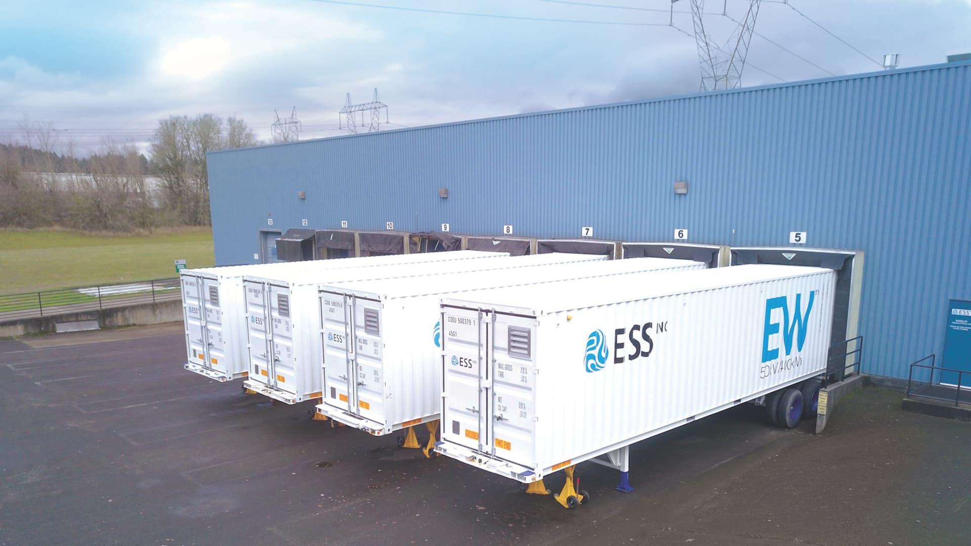 Four ESS Inc batteries