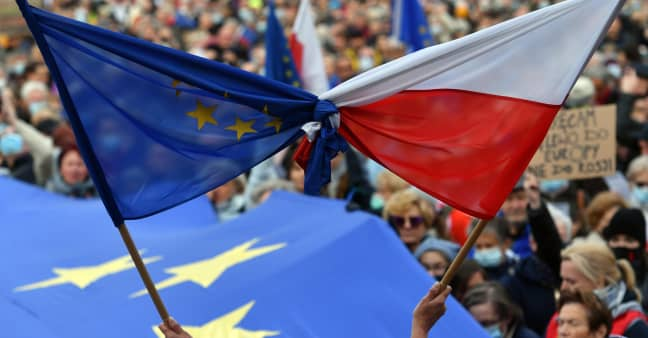 'We will not be intimidated': EU and Poland clash over funding and the rule of law