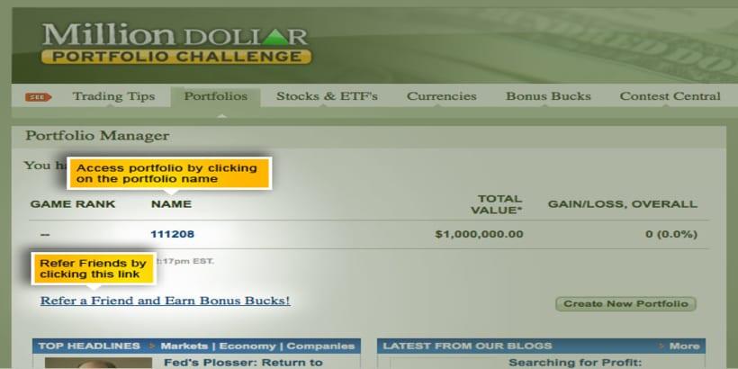Million Dollar Portfolio Challenge