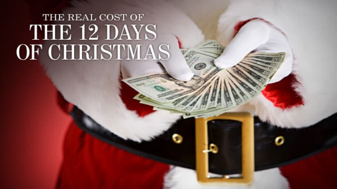 12 Days Of Christmas Costs.The Cost Of The 12 Days Of Christmas