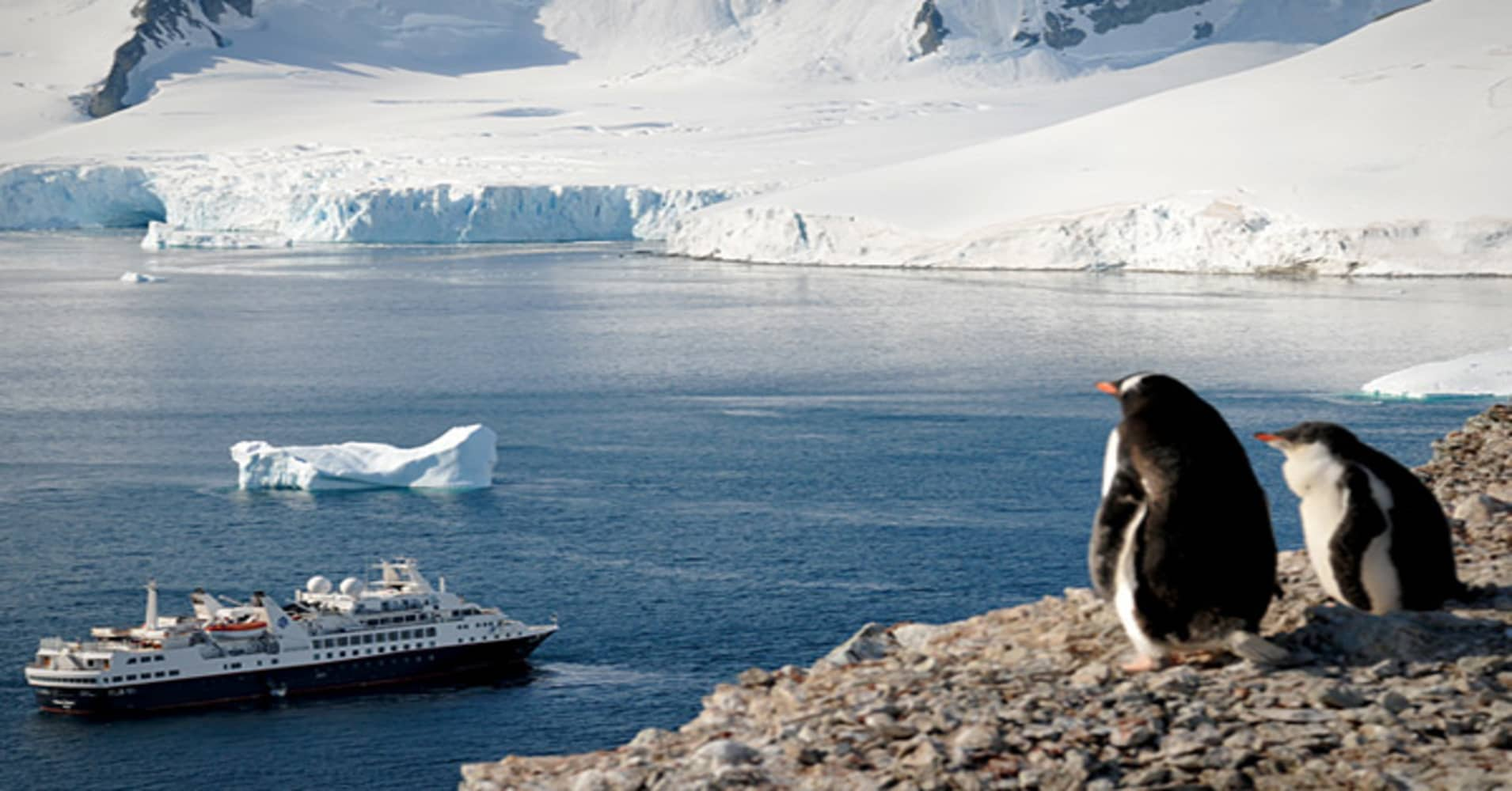 $8,799 per person for a 10-day voyage to $14,799 for 17 days.Earth's southernmost continent has no permanent residents other than polar bears, penguins, and whales, and no hotels. But you can get close to its glaciers by ship.  Silversea Expeditions' departs from Ushuaia, Argentina, a three-and-a-half hour flight from Buenos Aires.  The 354-foot Explorer brings along a marine biologist, historian and geologist to guide excursions to Deception Island (home to a collapsed volcano), Paradise Bay (