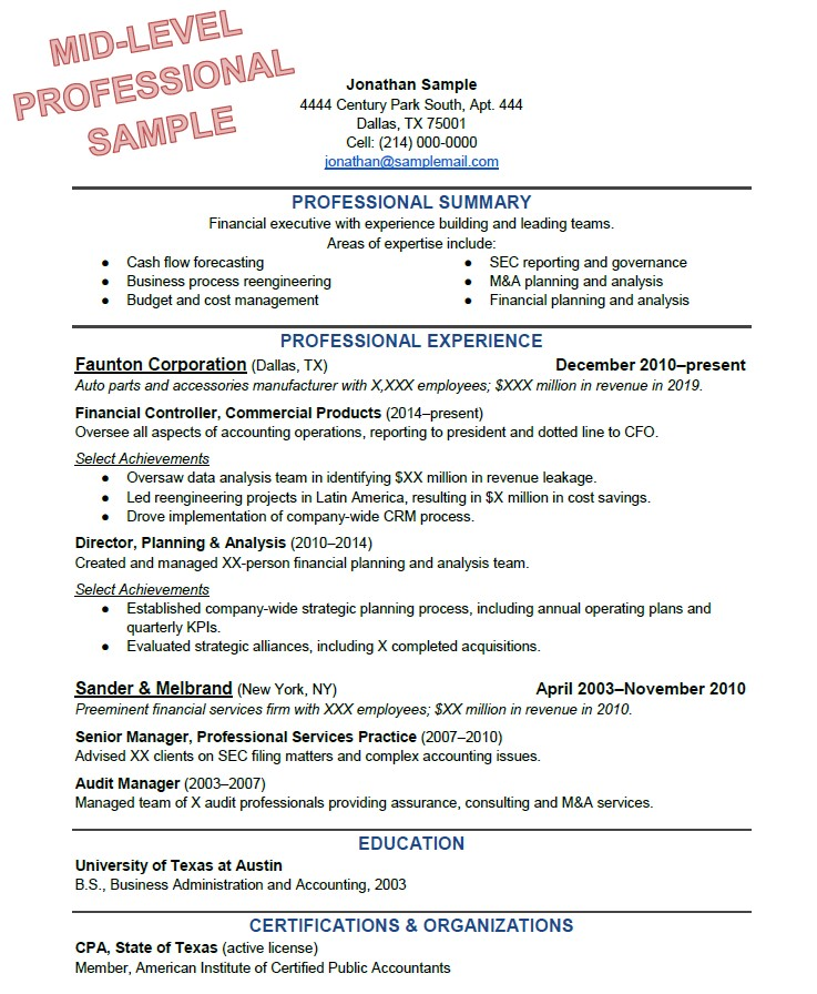 How To Write The Perfect Resume Based On Your Years Of Experience